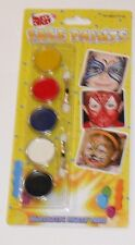 5 COLOUR KIDS FACE PAINTS WITH 2 APPLICATORS HOURS OF FUN FOR LITTLE ONES