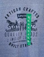 Levi's Men's Tshirt Size XL Heather Blue Royal Snow Artisan Crafted Indigo Denim