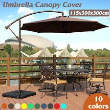 300*300cm Umbrella Canopy Outdoor Garden Parasol UV Cover Yard Patio Sun   D