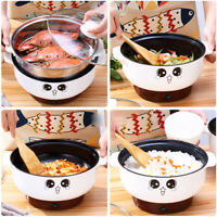 Multifunction 2.3L Electric Skillet Cooker Steamer Grill Pot Nonstick With Lid