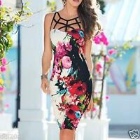 New Women's Summer Floral Bandage Bodycon Evening Sexy Party Cocktail Mini Dress