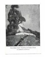 "AK, Steinberg am Rofan, Tirol, Künstlerkarte von Prof. Oskar Graf, ""St. Lamberti"