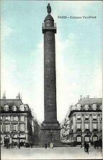 Paris Frankreich CPA Postkarte ~1914-18 Colonne Vendôme Straßenpartie ungelaufen