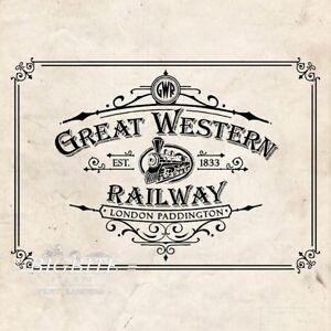 WATER DECAL: Great Western Railway Advert (Furniture Print Transfer) #074
