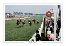 SEA-BIRD II PAT GLENNON 1965 EPSOM DERBY HORSE RACING A4 PHOTO SEA BIRD