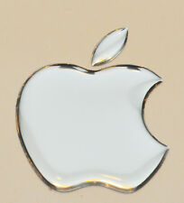 1pcs. 3D Silver Domed Apple logo stickers for iPhone, iPad cover. Size 50x43mm