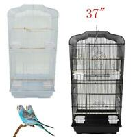 """37"""" Bird Parrot Cage Canary Parakeet Cockatiel Finch Cage 2 Colors"""