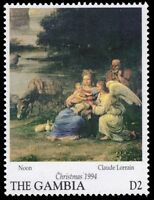 "GAMBIA 1594 (SG1913) - Christmas ""Noon"" by Claude Lorrain (pf40856)"