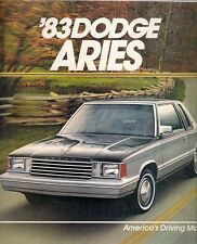 Dodge Aries 1983 USA Market Sales Brochure Sedan Wagon Custom SE