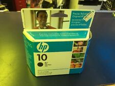 New Sealed Box Genuine HP 10 C4844A Black Inkjet Cartridge 02/2009
