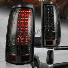 For 1999-2006 GMC Sierra 1500 2500 3500 LED Chrome Housing Smoke Lens Tail Light