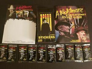A Nightmare on Elm Street Sticker Box / Album / promo flyer combo 48 packs
