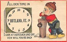 """""""I Look at Der Clock All Der Time"""" in Rutland Vermont~Ven Will You Be Back?~1914"""