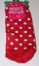 Sock & Sole! Lowcut Red Polka Dots Holiday Christmas Stocking Stuffer Sz 9-11