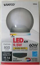Satco 9.5W 2700K A19 LED Bulb GU24 Base Lot of 3