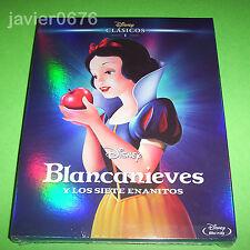 BLANCANIEVES Y LOS 7 ENANITOS DISNEY  BLU-RAY NUEVO PRECINTADO SLIPCOVER