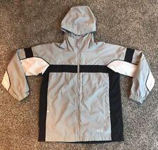 Columbia Kids Youth Boys Girl 10/12 Gray Nylon Mesh Lined Windbreaker Jacket Je9