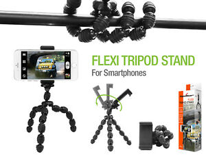 Flexi Tripod Stand Phone Holder Mount - Samsung Note 10 9 Galaxy S20 S10 S9