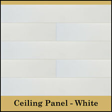 """Glue Up Ceiling Tiles Easy Installation Panel / Planks - 39.3"""" x 6.5"""" Pack of 12"""
