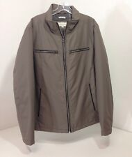 PERRY ELLIS PORTFOLIO MEN'S DOBBY TECH WATER REPELLENT JACKET OLIVE XL NEW