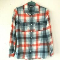 The North Face Cotton Plaid Button Front Long Sleeve Shirt Women's Size-Small