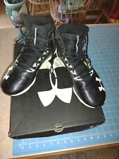Under Armour 6.5 Adult Lacrosse Football Shoes Cleats Black s/h w/o box save $