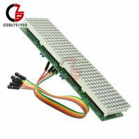 Dot Matrix Module Arduino Microcontroller MAX7219 4 In One Display + 5P Line
