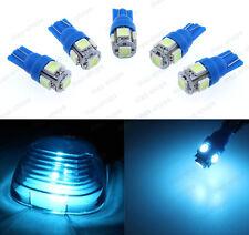 5Pcs Ice Blue Roof Cab Marker Clearance LED Bulbs Lights Fit 2003-2016 Dodge Ram