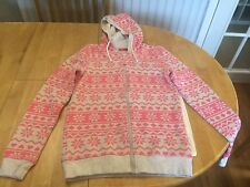 George  Girls' Pink/Grey Floral & Geometric Thick Jumper 12-13 Yrs NEW
