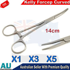 Hemostatic Hemostat Surgical Locking Artery Clamp Forcep Kelly Curved 14cm New