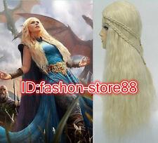 Daenerys Targaryen Dragon Princess Game of Thrones Braids Costume / Cosplay Wigs