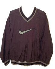 Vtg 90's Nike Air Big Swoosh Windbreaker Pullover Nylon Jacket Mens large L