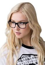 Geeky Glasses Clear Lens Geek Nerd Cosplay Chunky Black Frames Kawaii Japanese