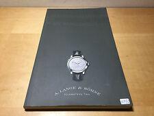 Catálogo A. LANGE & SÖHNE - Tradicionalmente en Vanguardia 2007 - 2008 - Español