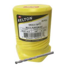 """1/4"""" x 4"""" Relton GRT Groo-V Tip Porcelain Tile & Stone Drill Bits - Pack of 250"""