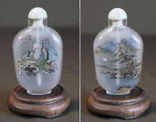 Beautiful Early 1900 Republic Period Chinese Peking Glass Snuff Bottle Signed