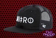 3fc69a5c97d37 New Nitro Circus Gravel Pit Black Mens  47 Snapback Trucker Cap Hat