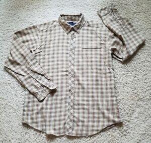 Exofficio Fishing Hiking Camping Button Down Long Sleeve Shirt Men's Size L