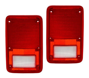 NEW PAIR OF TAIL LIGHTS FITS DODGE CARAVAN 1984 1985 1986 CH2808102 4057972