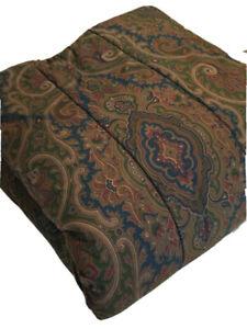 3 PC Ralph Lauren BRIANNA PAISLEY Comforter & Ruffled Shams ~ Full / Queen