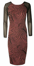 Party Animal Print Long Sleeve Dresses for Women