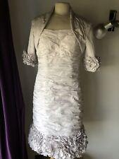 Ian stuart Mother Of Bride Dress Jacket Suit Blush Pink 12 USA