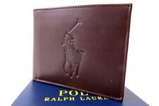 Big Pony by Ralph  Lauren Burnished Leather Bifold ID.  in Brown  R.R.P $85.00