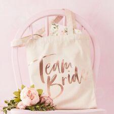 Team Bride Hen Party Tote Bag Vintage Rose Gold Bachelorette Party Favours Bag