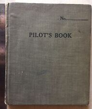 USA 1917 1919 Carnet De Vol Pilote Log Book Austin Texas