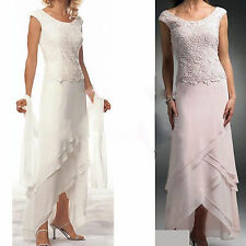 Custom Cap Sleeve Mother of the Bride Lace Dress Formal Evening Bridal Gown Ball