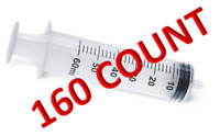 60ml Syringes Sterile Luer Lock Tip Individually Packaged 60cc CASE OF 160