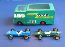 Matchbox RACING CAR TRANSPORTER #K-5/LOTUS RACING CAR #19/BRM RACING CAR #52 VG