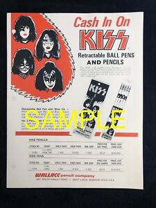 🔥Vintage KISS WALLACE Pen & Pencil Company Sales Sheet Not Aucoin Reproduction