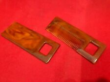 ANTIQUE VINTAGE SET BAKELITE COMB AND MIRROR GREAT CONDITIONS AMBER COLOR